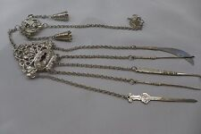 CIRCA 1800 CHINESE SILVER SEWING CHATELAINE EXCELLENT CONDITION  51.8 GRAMS BATS