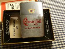 VINTAGE ZIPPO CHESTERFIELD CIGARETTES LIGHTER 1963