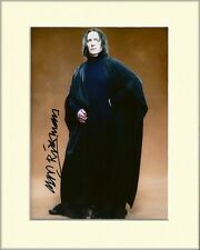 ALAN RICKMAN SEVERUS SNAPE HARRY POTTER PP 8x10 MOUNTED SIGNED AUTOGRAPH PHOTO