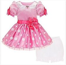 NEW NWT DISNEY STORE PINK MINNIE MOUSE DRESS PRINCESS COSTUME GOWN BABY 12-18 M