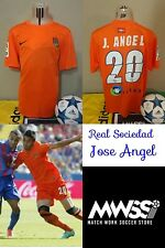 Camiseta Match worn Futbol Real Sociedad player Jose Angel away Football Maillot