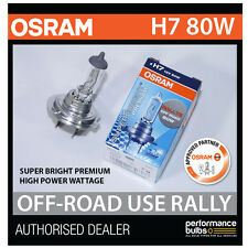 NEW! 62261SBP OSRAM H7 80W SUPER BRIGHT PREMIUM OFF-ROAD RALLY BULB (x1)