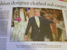 1932-2014 OSCAR DE LA RENTA OBITUARY FASHION DESIGNER CLOTHED RED CARPET ICONS