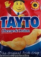 TAYTO Cheese & Onion Crisps from Ireland 25 x 25g packs