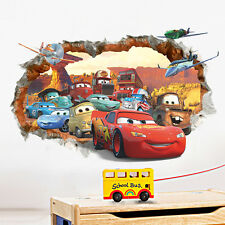 DISNEY CARS WALL STICKER 3D BOYS GIRLS BEDROOM VINYL WALL ART DECAL