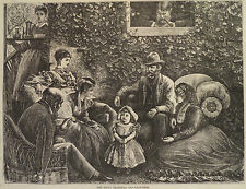 RIVAL GRANDPAS AND GRANDMAS SPOILING THE GRAND DAUGHTER HARPER'S WEEKLY 1871