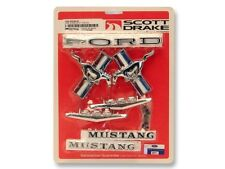 1965-1966 Mustang Coupe and Convertible Emblem Kit V8