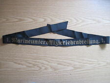 """Marine Mützenband""""1.Marineunteroffizierlehrabteilung.1.""""  2.WK"""