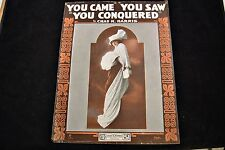 You Came You Saw You Conquered Sheet Music Chas K Harris Great Cover 1917