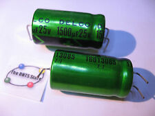 Electrolytic Capacitor Delco 16013085 1500uF 25VDC 105C 3-Lead Axial - NOS Qty 2