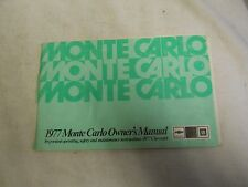 1977 Chevrolet Monte Carlo  Owner's Manual (Paperback, Illustrated  )