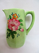 Vintage Green Pottery Art Pitcher #6