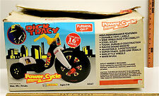 "Vintage Playskool Ride-On Dick Tracy 16"" Big Wheel Power Cycle Plastic 1990 NIB"