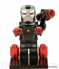 Custom Iron Man War Machine Minifigure Marvel fits with Lego xh266 UK Sellar