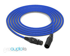 Mogami 2534 Quad Cable | Neutrik Gold XLR-F XLR-M | Blue 3.5 Feet | 3.5 Ft. 3.5'