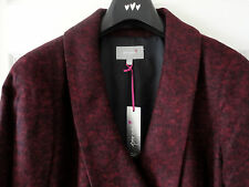 M&S Per Una Claret Colour SZ18 Wool Blend Double Breasted Coat, BNWT, Was £99