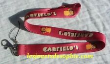 GARDFIELD chat dessin TOUR COU porte clef Badge cordon KEYCHAIN MP clef lanyard