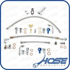 Saab 9-3 9-5 AERO For MHI TD04 Upgrade Turbo Oil Water Teflon Hose Line Kit