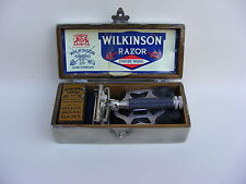 VINTAGE WILKINSON SWORD SAFETY RAZOR EMPIRE MODEL CHROME CASE