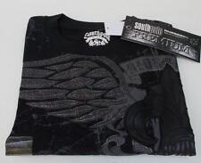 Southpole Size L Premium Edition Tee Ride 4 Life Wings/Fleur-de-Lis Black NWT