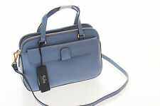 Tula Brand New Smooth Originals Blue Leather Medium Multiway Grab Bag RRP £139