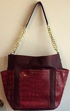 NWT Steve Madden Wine Hobo Shoulder Crossbody Purse Handbag Crocodile Print