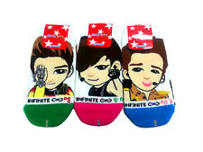 INFINITE 3 Pairs Unisex Size White Color Low Ankle Kpop Casual Socks Size 6-9