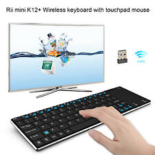 Rii k12+ mouse key wireless mini keyboard  with touchpad for PC Android box
