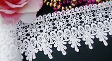 Beautiful white Venise  Lace Trim  - selling by the yard