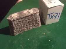 Stone Style Bridge support pier  -OO Scale HO Scale 80mm Tall Tapered Rough Ston