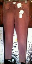 M&S Angel Women's Trousers, Berry,  Size to fit Waist 81cm 32 in long