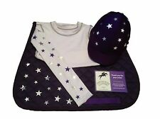 Children's Riding Equestrian Set of Cross Country colours, White,silver,Purple