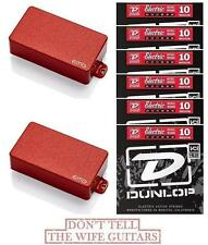 EMG 81 + 60 Red Active Solderless Humbucker Guitar Pickup Set ( 6 STRING SETS )