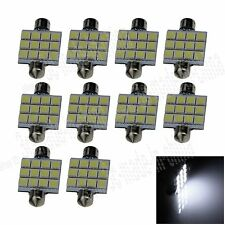10X White 41MM 12 5050 Festoon Dome Map Interior LED Light Lamp Roof Bulb I303