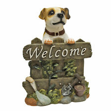 Jack Russell Terrier Welcome Sign Garden Puppy Outdoor Statue