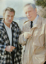 COUPURE de presse PHOTO CLIPPING  YVES MONTAND et JOHNNY HALLYDAY