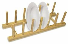 Home Kitchen RV Bamboo Dish Drying Rack Storage Organizer Holder Drainer Sink