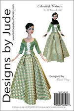 "Outlander Scottish Claire Dress Doll Clothes Sewing Pattern 16"" Poppy Integrity"