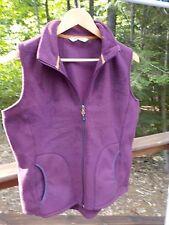 Woolrich Women's Ladies M Burgundy Soft Cozy Fleece Vest Jacket Coat Barely Worn