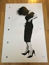 """Robert Longo """"Gretchen"""" Exhibition Poster 1985 28x42inches Clean Old Stock"""