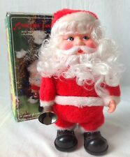 Vtg Musical Walking Bell Ringing Santa Claus Animated 8 Songs Box ST-303 AS IS