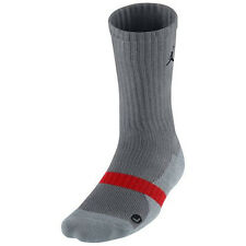 Nike Air Jordan True Crew Socks Grey/Grey/Red 437373-002 1 Pair L 8-12