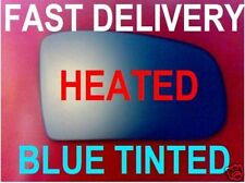 MERCEDES W210 E-CLASS 2000-03  WING MIRROR GLASS FLAT HEATED BLUE TINTED
