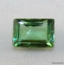 NATURAL GREEN FACETED LOOSE TOURMALINE GEMSTONE 4X6 FACETED OCTAGON 0.7CT TU8
