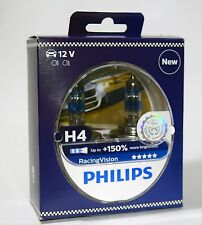 H4 Philips RacingVision +150% 12342RVS2 Racing Vision car headlight bulb
