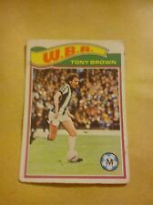 WEST BROMWICH ALBION FOOTBALL CLUB 1978 TOPPS CARD TONY BROWN # 37 OK CONDITION
