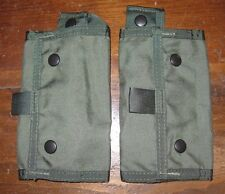 Lot of 2 Paraclete 12 rd shotgun shell pouch elastic loop smoke green molle OD
