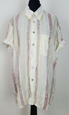 WOMENS VINTAGE RETRO 90'S BRIGHT PATTERN OVERSIZED BLOUSE SHIRT FRESH PRINCE L