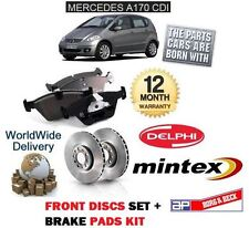 FOR MERCEDES A170 CDi DIESEL 1998-2004 FRONT BRAKE DISCS SET AND DISC PADS KIT