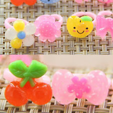 10Pcs Wholesale Mixed Lots Cute Cartoon Children/Kids Resin Lucite Rings